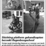 Stichting platform gehandicapten bezoekt Regenboogschool
